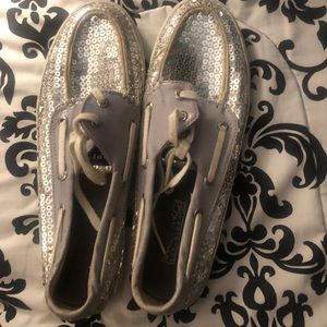 Sequined sperry topsiders